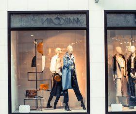 Clothing store display window Stock Photo