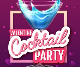 Cocktail music party flyer with poster template vectors 02