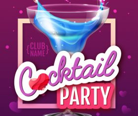 Cocktail music party flyer with poster template vectors 03
