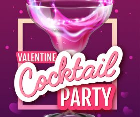 Cocktail music party flyer with poster template vectors 05