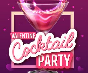 Cocktail music party flyer with poster template vectors 06