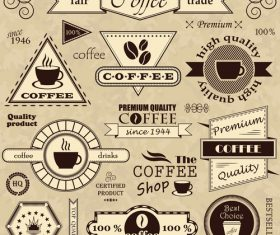 Coffee commodity label with logo design vector