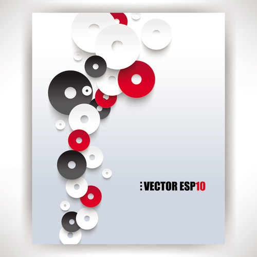 Colored CD music backgrounds vectors
