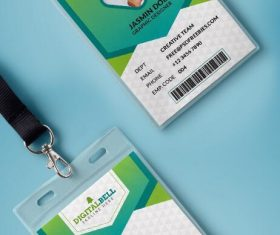 Company Photo Identity Card PSD Template
