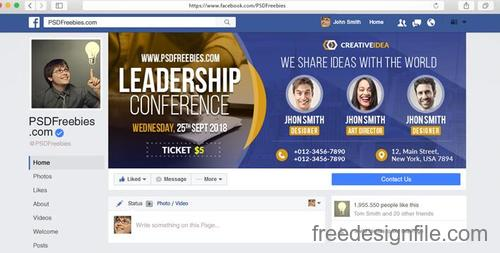 Conference AND Announcement Facebook PSD Template