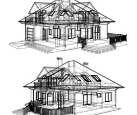 Construction architecture drawings template vector 02