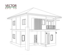 Construction architecture drawings template vector 07