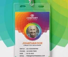 Corporate Branding Identity Card PSD Template