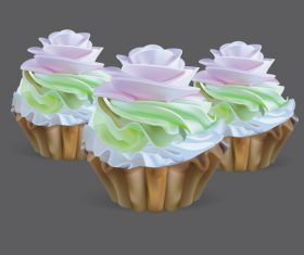 Cupcake illustration design vectors 05