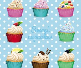 Cupcake illustration design vectors 10