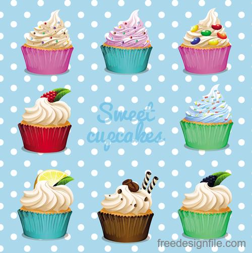 Cupcake illustration design vectors 10