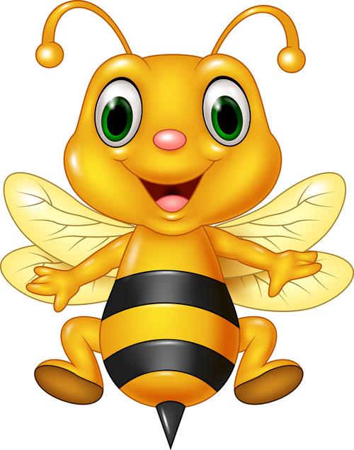 Cute cartoon bee baby vector
