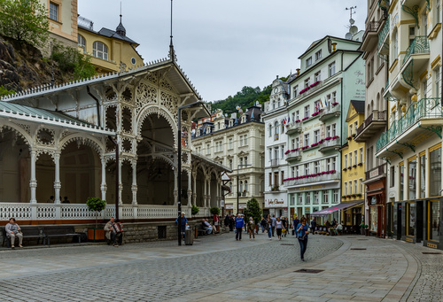Czech Karlovy Vary cityscape Stock Photo 05
