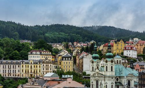 Czech Karlovy Vary cityscape Stock Photo 07