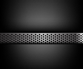Dark and black carbon fiber with metal texture vector background 01