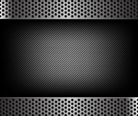 Dark with carbon fiber texture vector background 02