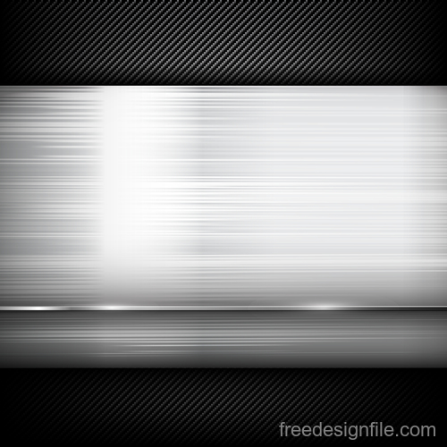 Dark and black carbon fiber with polish steel texture vector background