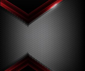 Dark carbon fiber and red overlap background vector 01