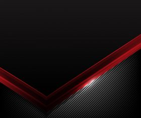 Dark carbon fiber and red overlap background vector 02