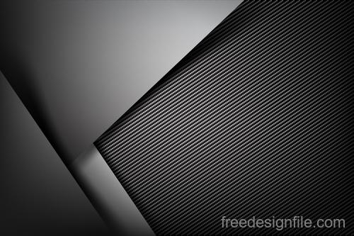 Dark with carbon fiber texture vector background 04