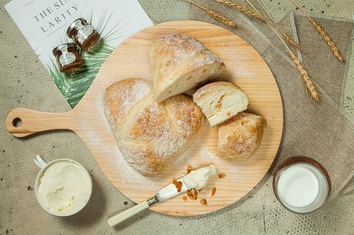 Delicious afternoon tea bread snack Stock Photo 04
