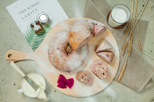 Delicious afternoon tea bread snack Stock Photo 08