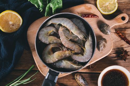 Delicious fresh base shrimp Stock Photo 03