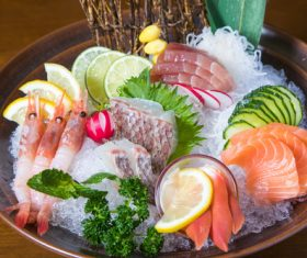 Delicious seafood platter Stock Photo 02