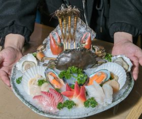 Delicious seafood platter Stock Photo 04