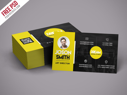 Design Studio Business Card Design PSD Template