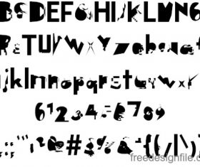 Digital Distortion Fonts