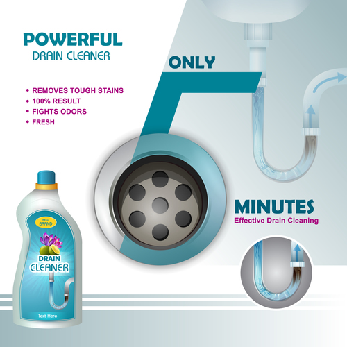 Dish cleaner advertisement poster template vectors 08