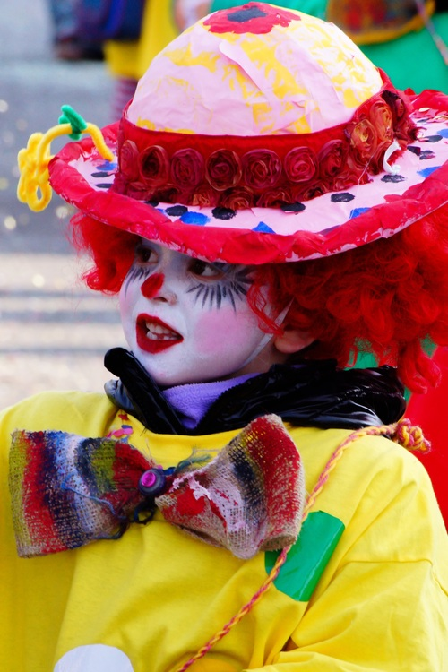 Dressed as a clown Stock Photo 03