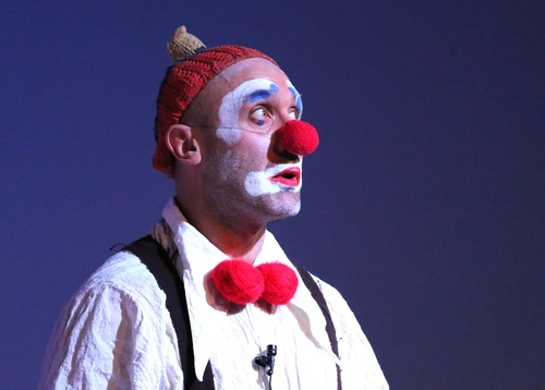 Dressed as a clown Stock Photo 04