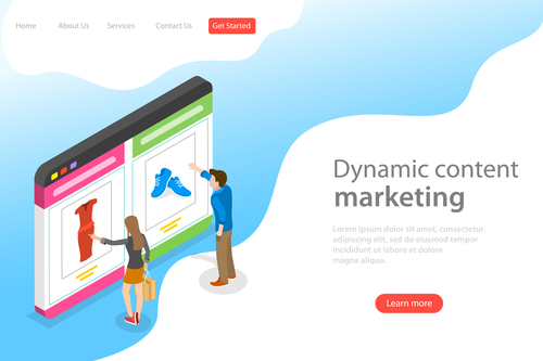 Dynamic content marketing business template vector