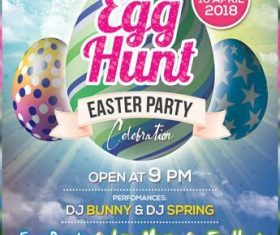 Easter Party Invitation Flyer and Poster PSD Template
