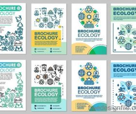 Ecology brochure cover template vectors 01