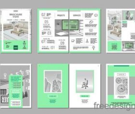 Ecology brochure cover template vectors 02