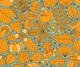 Fall line seamless Thanksgiving Day design vector