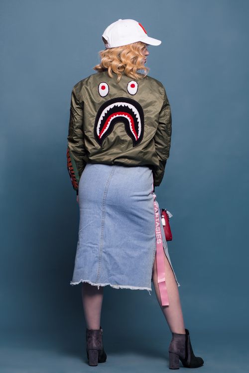 Fashion female model Studio posing Stock Photo 02