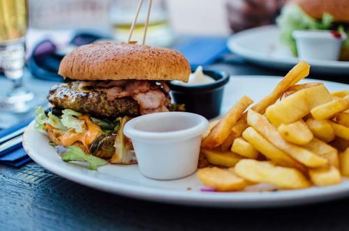 Fast food hamburger Stock Photo 04
