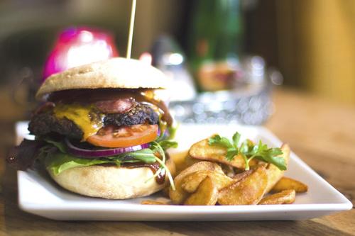 Fast food hamburger Stock Photo 05