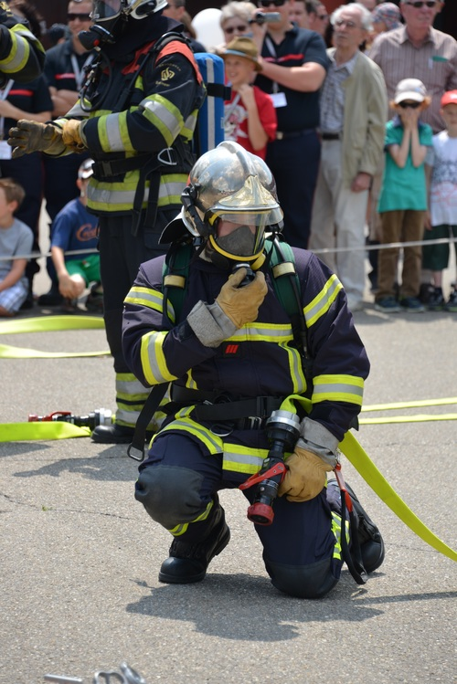Fireman drill Stock Photo 02