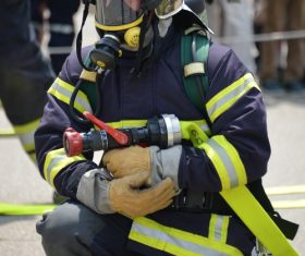 Fireman drill Stock Photo 03
