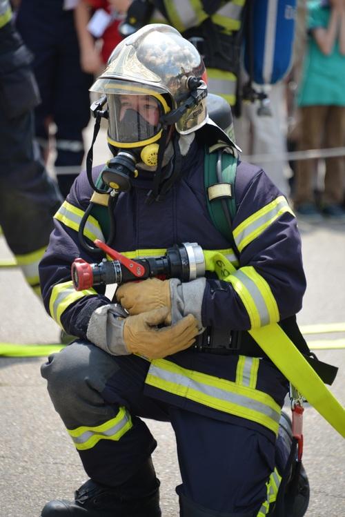 Fireman drill Stock Photo 03