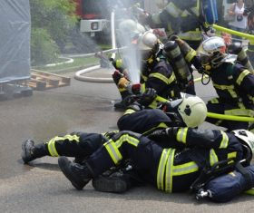 Fireman drill Stock Photo 05