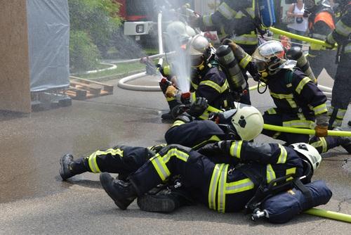 Fireman drill Stock Photo 05