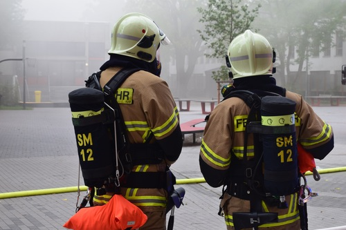 Fireman drill Stock Photo 06