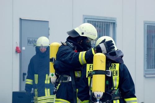 Fireman drill Stock Photo 07