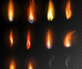 Flames fire illustration vector